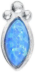 Labret Push-Fit Opale Argent & Bleue