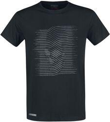 Black T-shirt with Grey Print