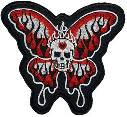 Skull Patch with Butterfly Wings
