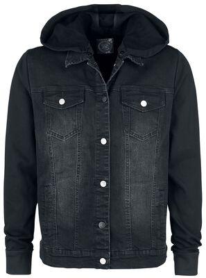 sound check red by emp veste en jean large. Black Bedroom Furniture Sets. Home Design Ideas