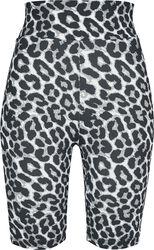 Short taille haute léopard