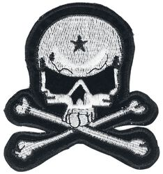 Large White Skull Patch