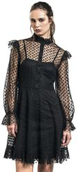 Don't Mesh With My Heart Ruffled Skater Dress