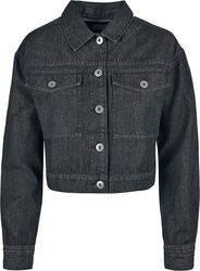 Ladies Short Oversize Denim Jacket