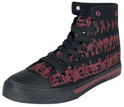 Baskets Noires/Rouges Batik