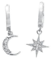 Clous D'Oreille Lune & Étoile Polaire