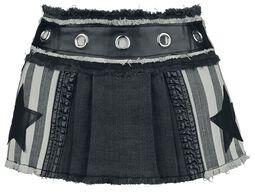 Ultra mini pleated skirt with stars
