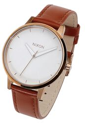 Kensington Leather - Rose Gold / White