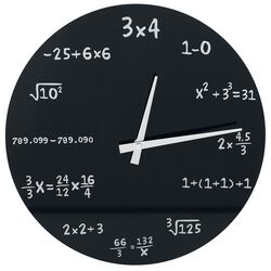 Mathematics Glass Wall-Clock