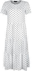 White Tiered Smock Dress