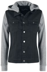 Veste En Jean Manches Sweat-Shirt