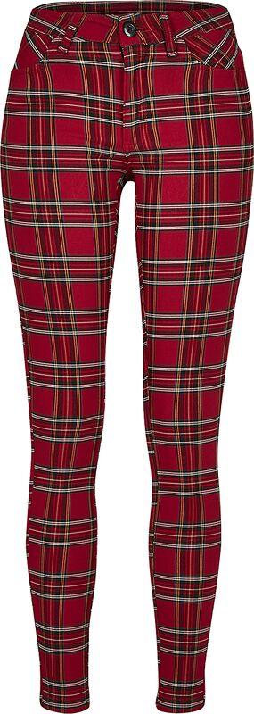 Pantalon Skinny Tartan Femme