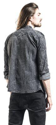 Chemise Gris Foncé Délavée Avec Épaulettes