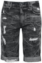 Destroyed Washed Shorts