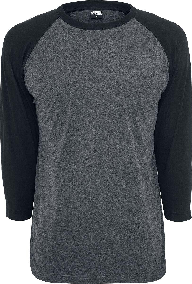 T-Shirt Manches 3 4 Contrast Raglan   Urban Classics T-shirt manches longues    Large 4a1284ce19df