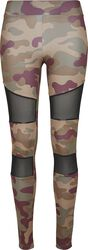 Legging Tech Mesh Camouflage Femme