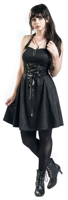 Gothicana Halterneck Dress with Lacing