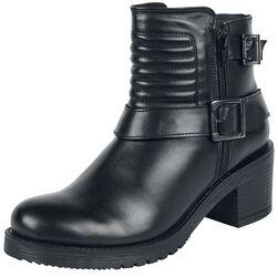 Bottines Noires Avec Boucles & Coutures Motard