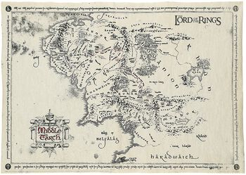 Middle Earth Map Large.Middle Earth Map The Lord Of The Rings Poster Large