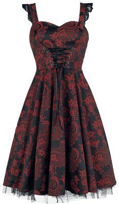 Robe Longue Gothic Marie Antoinette Rouge