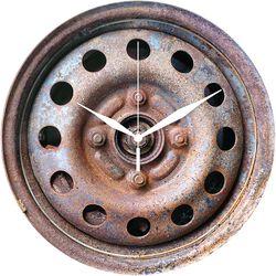 Glazen Wandklok Wheel Rim