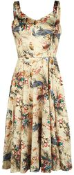 Botanical Bird Print Dress