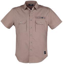 braunes Kurzarmhemd im Army Style