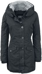 Ladies Washed Long Parka