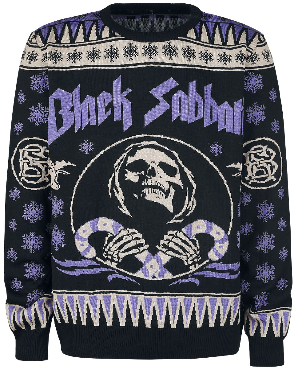 Holiday Sweater Black Sabbath Pull De Noël Large