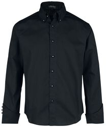 Schwarzes Langarmhemd mit speziellen Details