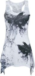 Crow Shade Lace Panel Vest