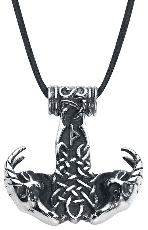 Thor's Hammer With Goat's Head