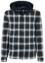 Hooded Checked Flanel Shirt