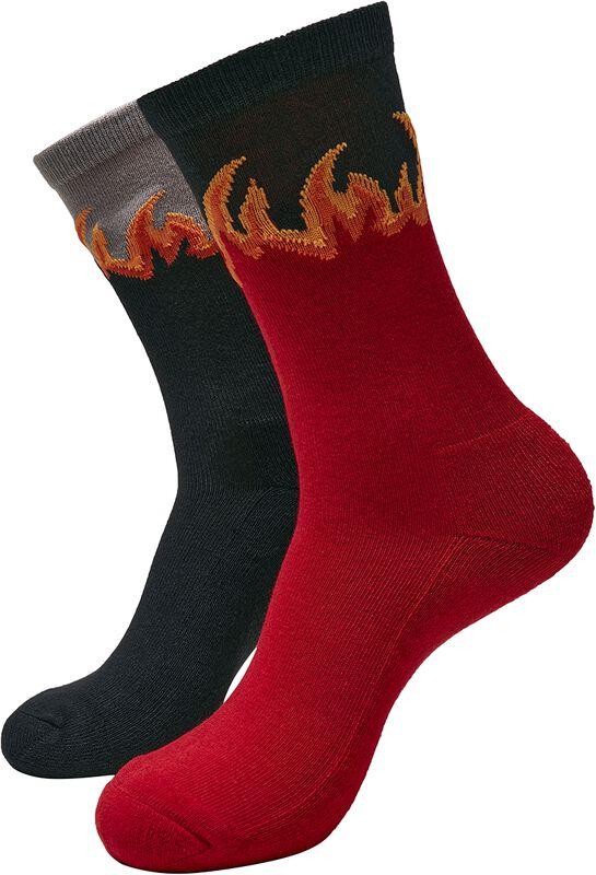 Chaussettes Flammes - 2 Paires