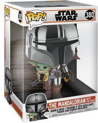 The Mandalorian - The Mandalorian with the Child (Jumbo Pop!) Vinylfiguur 380