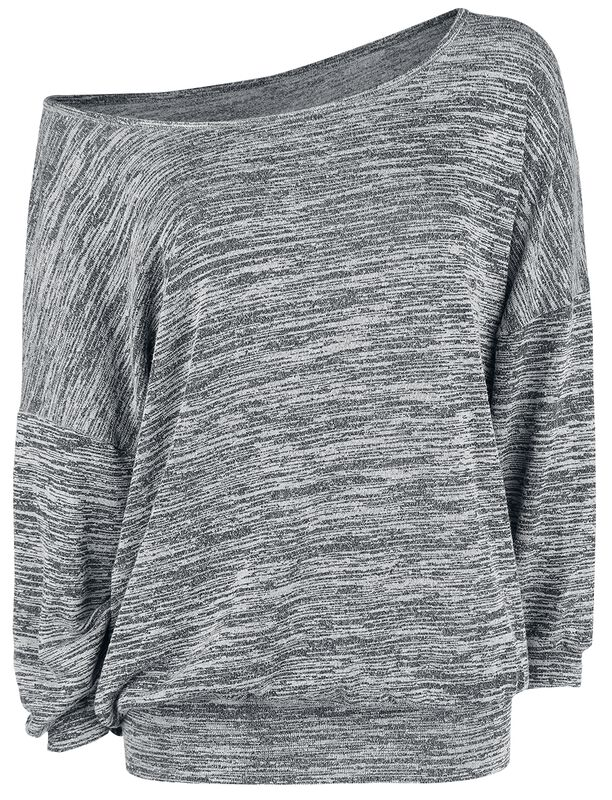 Pull Oversize Chiné Col Bateau